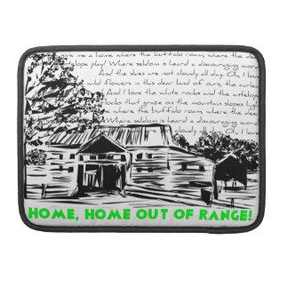 """""""Home fora da escala"""" - decorativa, motivo cómico Bolsas Para MacBook"""