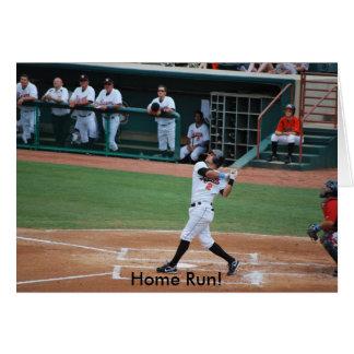 Home run! cartão do cumprimento/convite