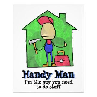 Homem acessível. Construtor. Construção. Contratan Panfleto