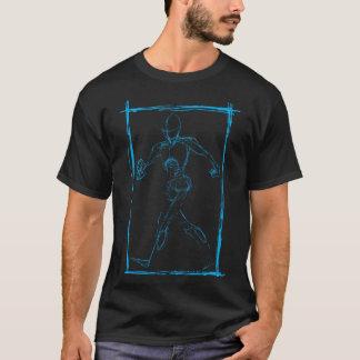 Homem azul do esboço camisetas