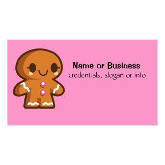 Homem bonito de Gingberbread Cartão De Visita