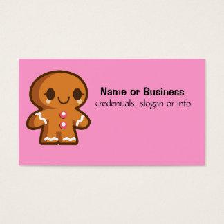 Homem bonito de Gingberbread Cartão De Visitas