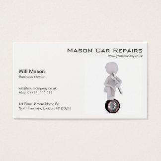 Homem branco, cartão de visita do mecânico