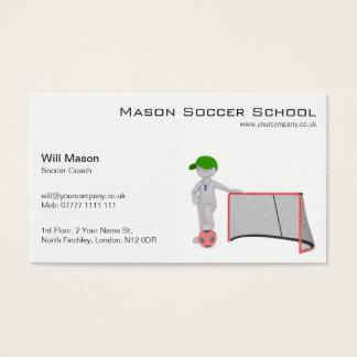 Homem branco, cartão de visita do treinador do