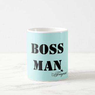 homem branco clássico beFragrant do chefe da Caneca De Café