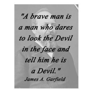 Homem bravo - James Garfield Cartão Postal