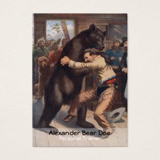 Homem contra o urso - cartão de visita pessoal do