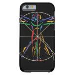 Homem da anatomia de DaVinci em cores de Chakra Capa Tough Para iPhone 6