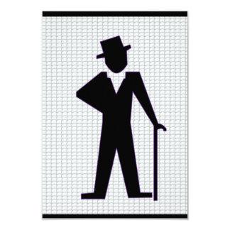 Homem da dança convite 8.89 x 12.7cm