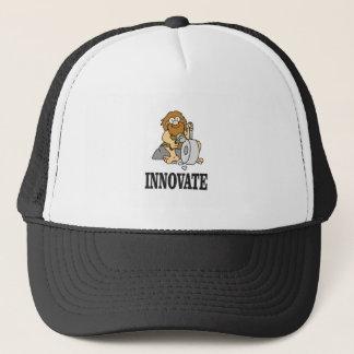 homem das cavernas da inovação boné