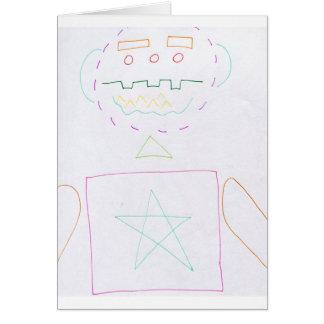 Homem de Ctoon Geometria Cartão Comemorativo