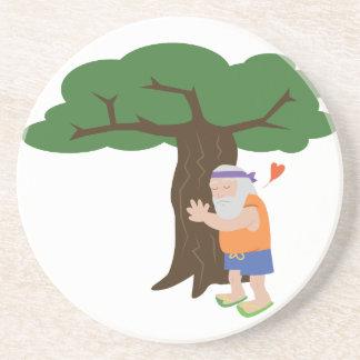 Homem de Hugger da árvore Porta Copos De Arenito