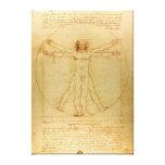 Homem de Leonardo da Vinci Vitruvian Impressão Em Tela