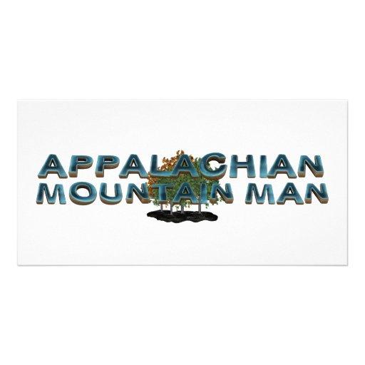 Homem de montanha apalaches do T Cartoes Com Foto