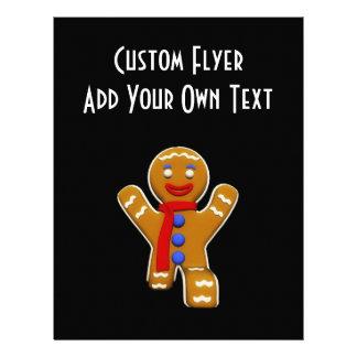Homem de pão-de-espécie - aterragem perfeita panfletos personalizado
