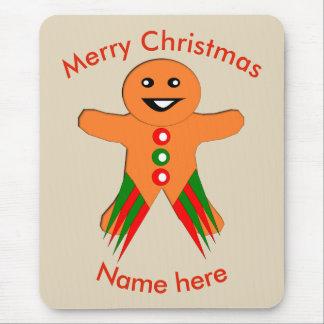 Homem de pão-de-espécie Mousepad da festa de Natal