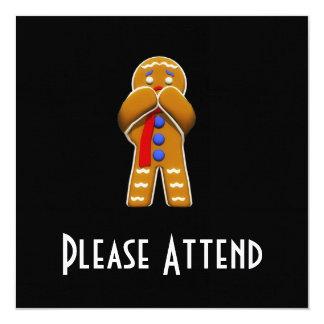 Homem de pão-de-espécie - Scared - cores originais Convites Personalizado