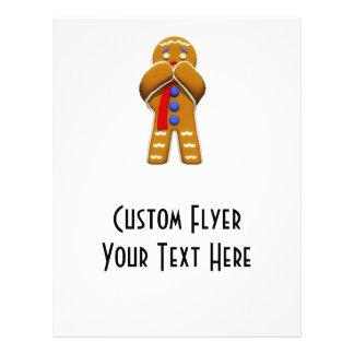 Homem de pão-de-espécie - Scared - cores originais Flyer 21.59 X 27.94cm