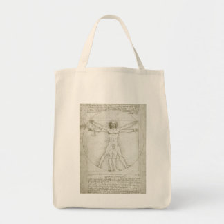Homem de Vitruvian por Leonardo da Vinci Bolsas