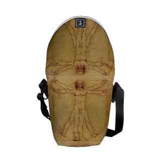 Homem de Vitruvian por Leonardo da Vinci Bolsa Mensageiro