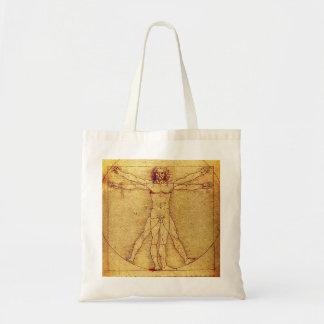 Homem de Vitruvian por Leonardo da Vinci Bolsa Tote