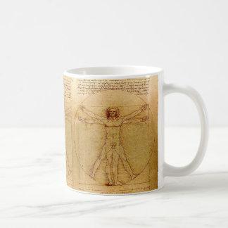 Homem de Vitruvian por Leonardo da Vinci Caneca De Café