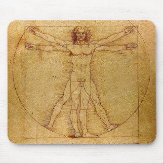 Homem de Vitruvian por Leonardo da Vinci Mouse Pad