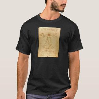 Homem de Vitruvian por Leonardo da Vinci T-shirts