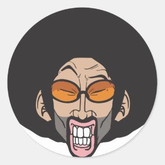 Homem do Afro de Hiphop Adesivos Em Formato Redondos