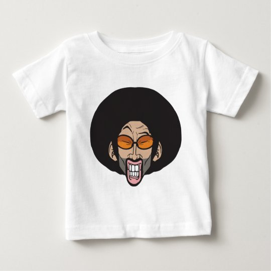 Homem do Afro de Hiphop Camiseta Para Bebê