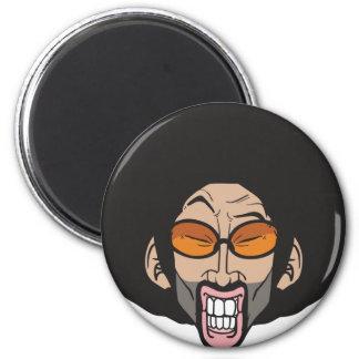 Homem do Afro de Hiphop Ímã Redondo 5.08cm