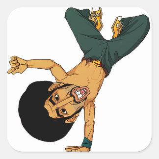 homem do Afro do B-menino Adesivos Quadrados