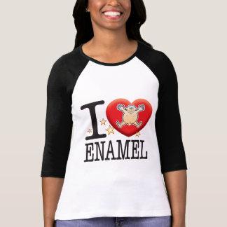 Homem do amor do esmalte camisetas