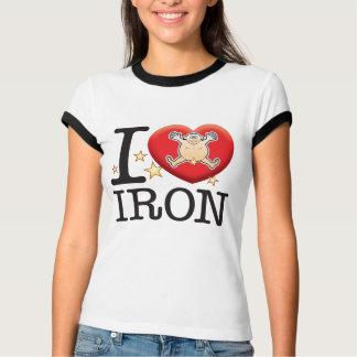 Homem do amor do ferro camiseta