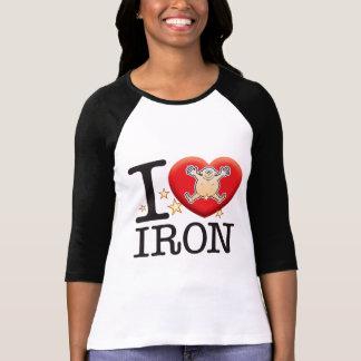 Homem do amor do ferro t-shirts