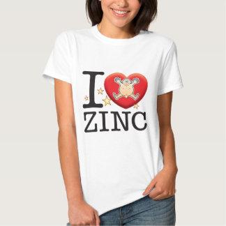 Homem do amor do zinco t-shirt