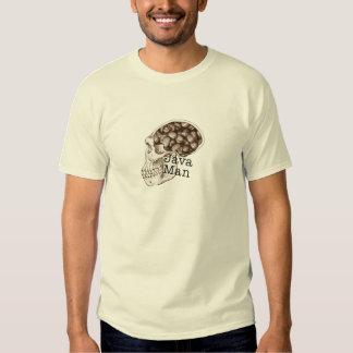 Homem do feijão de Java T-shirts
