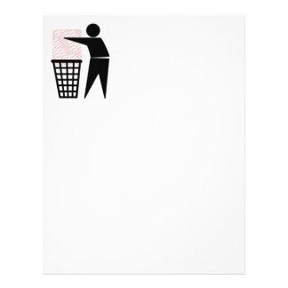 Homem do lixo que despeja o lixo de papel panfleto personalizados