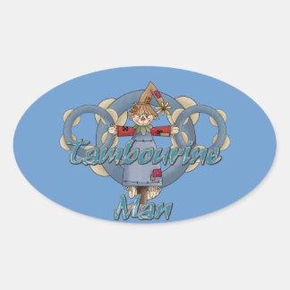 Homem do pandeiro adesivo oval