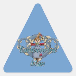 Homem do pandeiro adesivo triangular