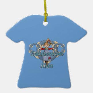 Homem do pandeiro ornamento de cerâmica camiseta