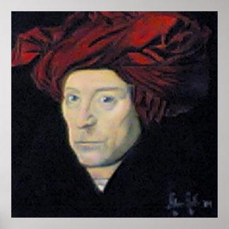 homem do vermeer no turbante impressão