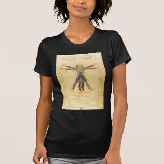 Homem do Vitruvian de da Vinci com tatuagens T-shirt