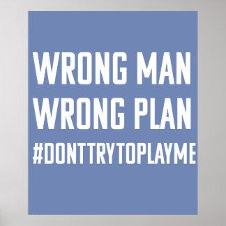 Homem errado; Poster errado do plano