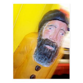 Homem farpado salgado do marinheiro cartão postal
