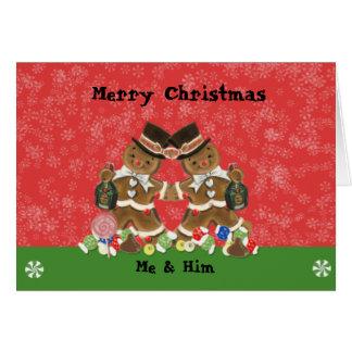 Homem gay do cartão de Natal do homem de