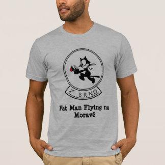 Homem gordo que voa na Morave Camiseta