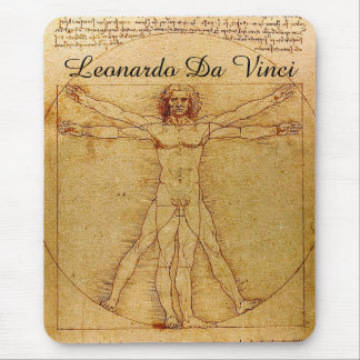 Homem-Leonardo da Vinci de Vitruvian Mouse Pad