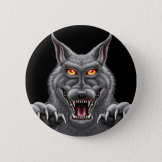 Homem-lobo feroz bóton redondo 5.08cm
