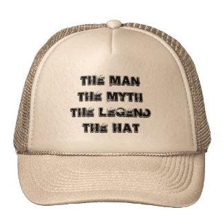 Homem, mito, chapéu da legenda bones